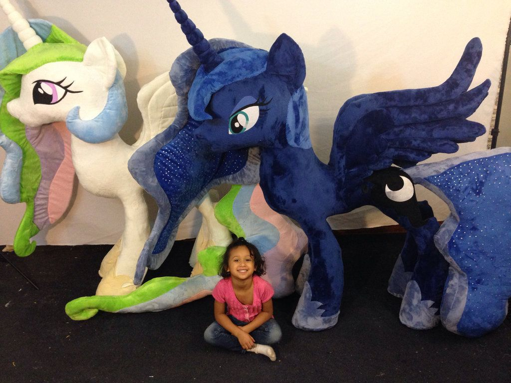 Equestria Daily Giant Luna Plushie Arrives Five Feet Five Inches