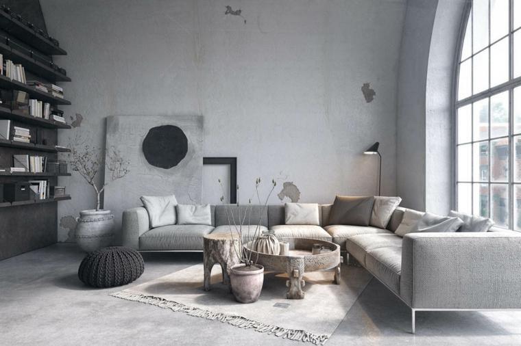Beispiel Wohnzimmer Dekoration : Innendekoration zwei beispiele für das mischen von industriellen
