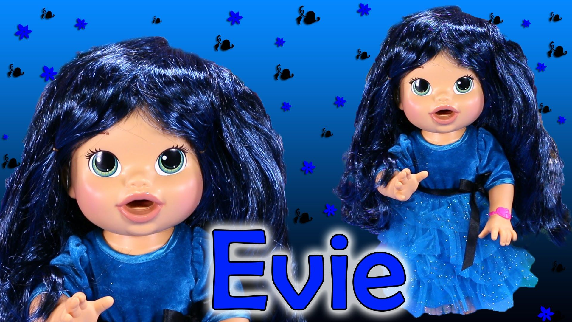 Descendants Evie Custom Baby Alive Eats Play Doh Treats Poops Blind Bag Toys Surprises Baby Alive Custom Baby Play Doh