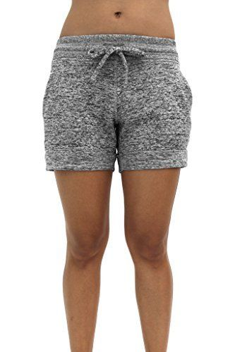 b1a8d6c89ef5c 90 Degree By Reflex Soft and Comfy Activewear Lounge Shorts with Pockets  and Drawstring for Women #activewear #shorts