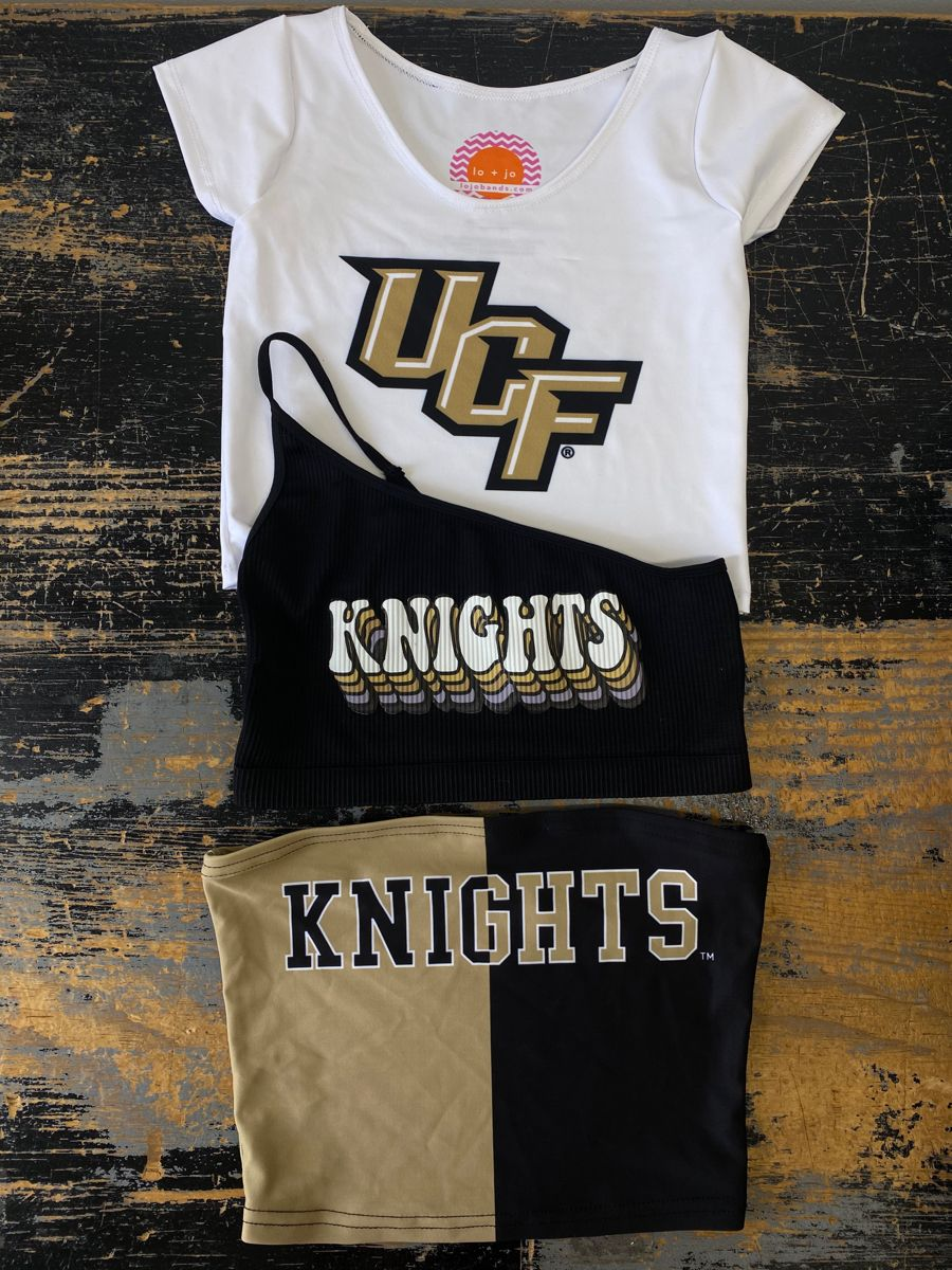UCF Knights Tube Top Game Day Shirt Tailgate Top College T-Shirt White Game Day Outfit Tailgate Clothing Crop Top College Football Shirt