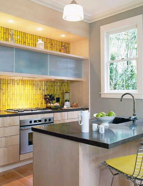 Charmant Yellow Kitchen Backsplash