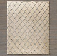 Diamante Flatweave Linen Rug - Natural/Light Grey | Ben Soleimani for RH | Restoration Hardware