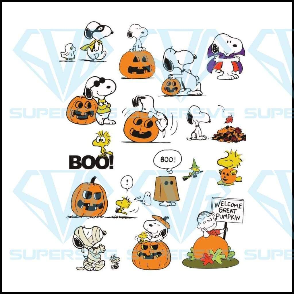 Snoopy Halloween Pumpkin Bundle Svg Halloween Halloween Svg Halloween Png Supersvg Snoopy Halloween Halloween Pumpkins Christmas Svg