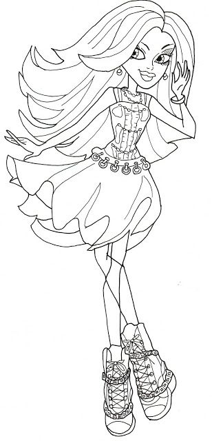 Spectra Vondergeist Monster High Coloring Page Coloring Pages of