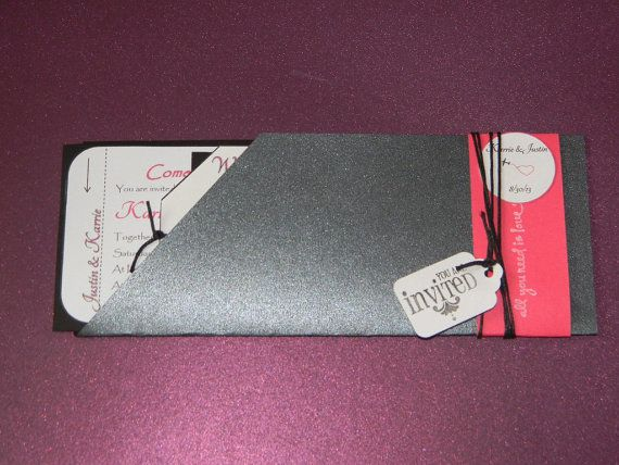 Customizable Airline Ticket Invitations by EventsByJackieM on Etsy, $4.00