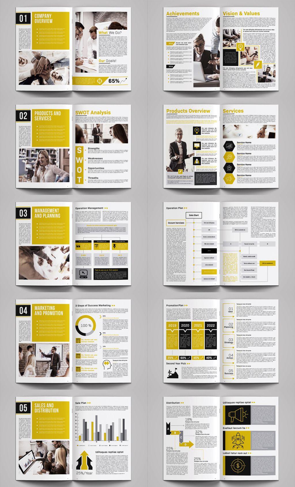 Business plan brochure template INDD