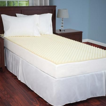 Egg Crate Mattress Topper Twin And Twin Xl Designed To Add Extra Comfort And Support By Everyday Home Walmart Com Twin Bed Mattress Mattress Mattress Topper