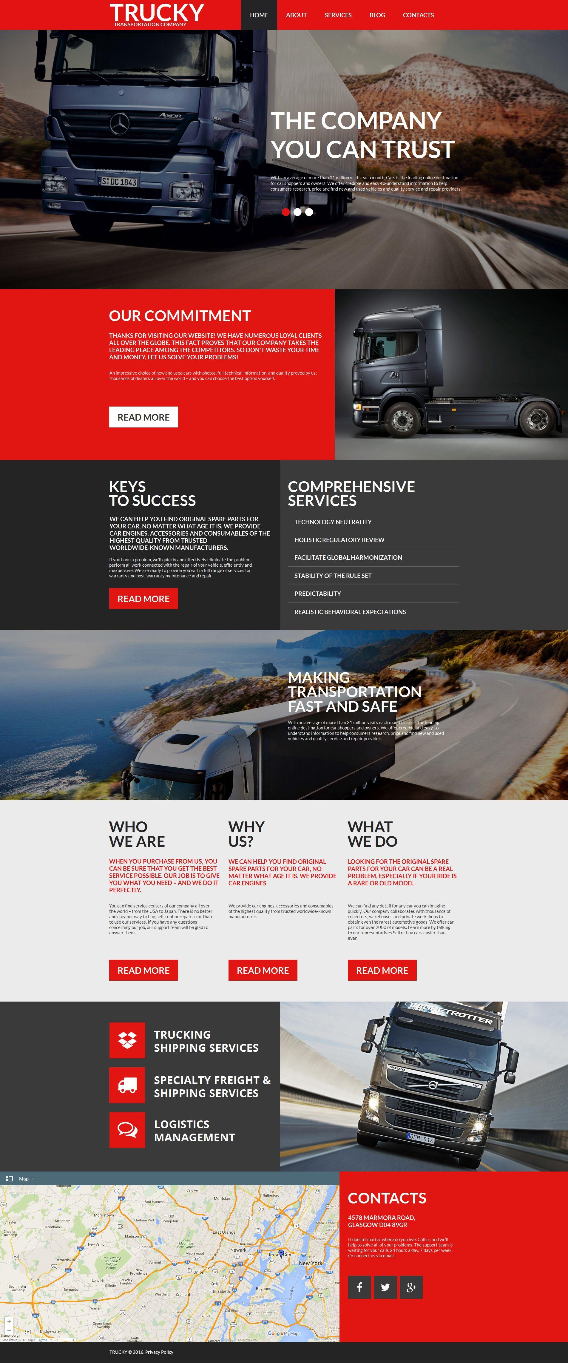 trucking moto cms html template pinterest template web design