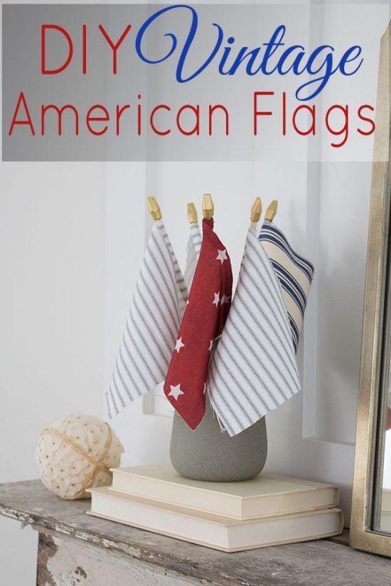 Vintage American Flag DIY - The Honeycomb Home