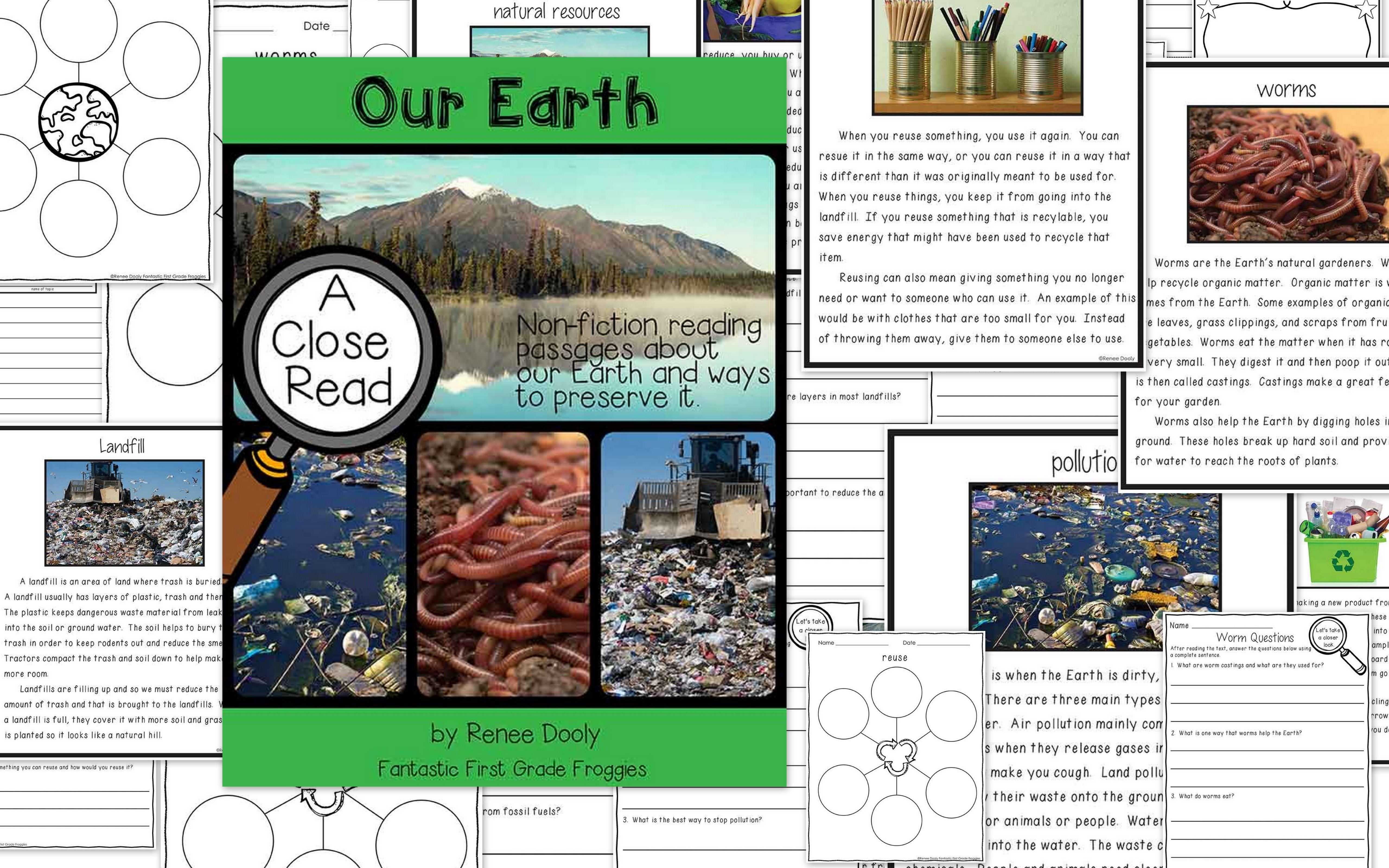 Close Reading Passage For Earth Day Or Your Environmental