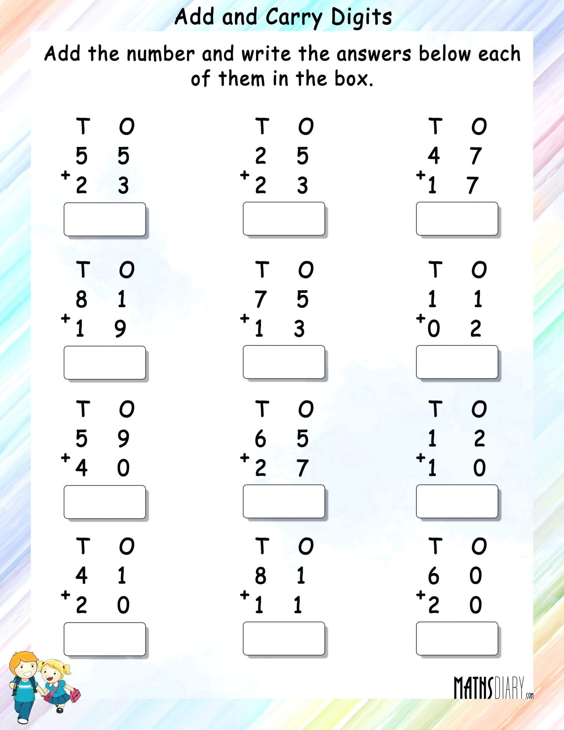 5 Brand New Grade 1 Math Worksheets In
