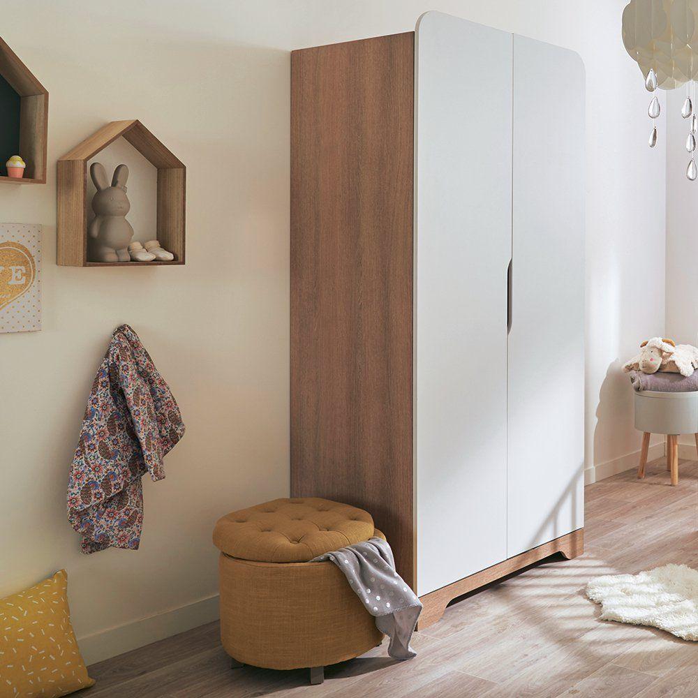 armoire enfant Alinéa blanc et bois avec pieds. Très moderne, cette ...