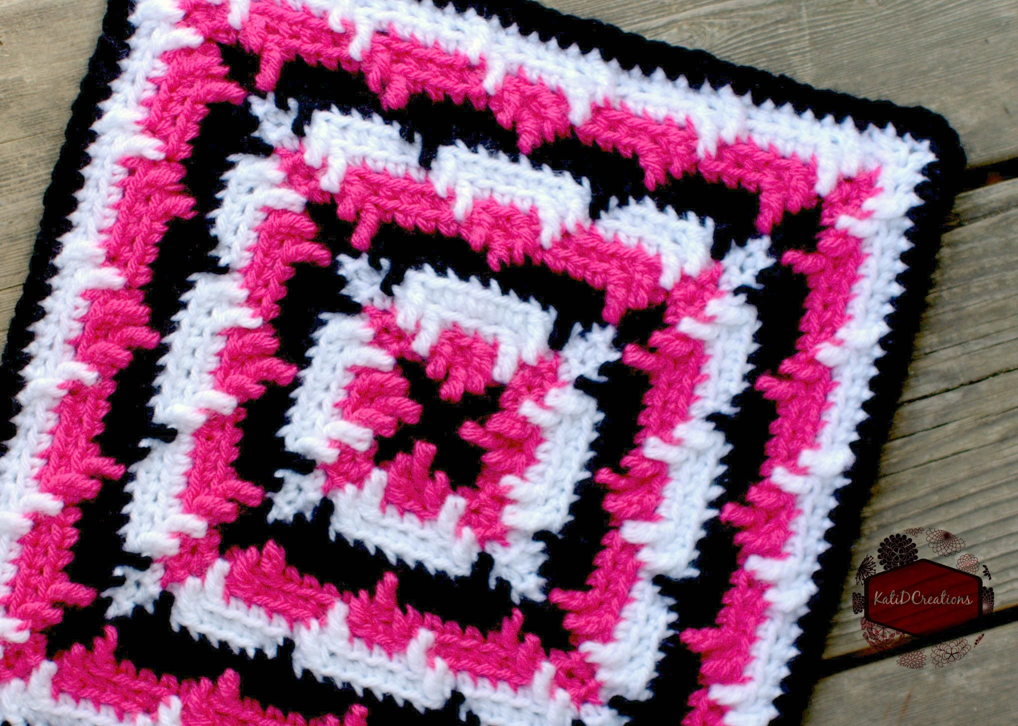 Squared Ripples - KatiDCreations | Knit & Crochet Afghans & Squares ...