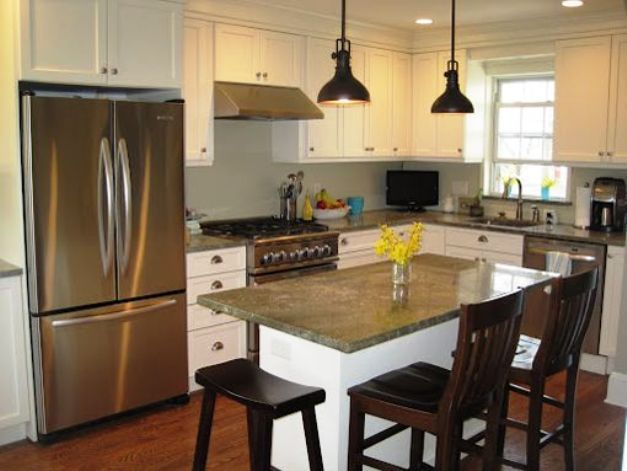 L Shaped Kitchen With Island Bench Kitchen Remodel Small