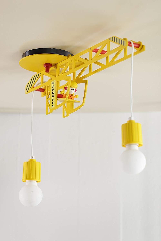 Für die Kinderzimmer Baustelle Elobra Kinder Lampe Kran