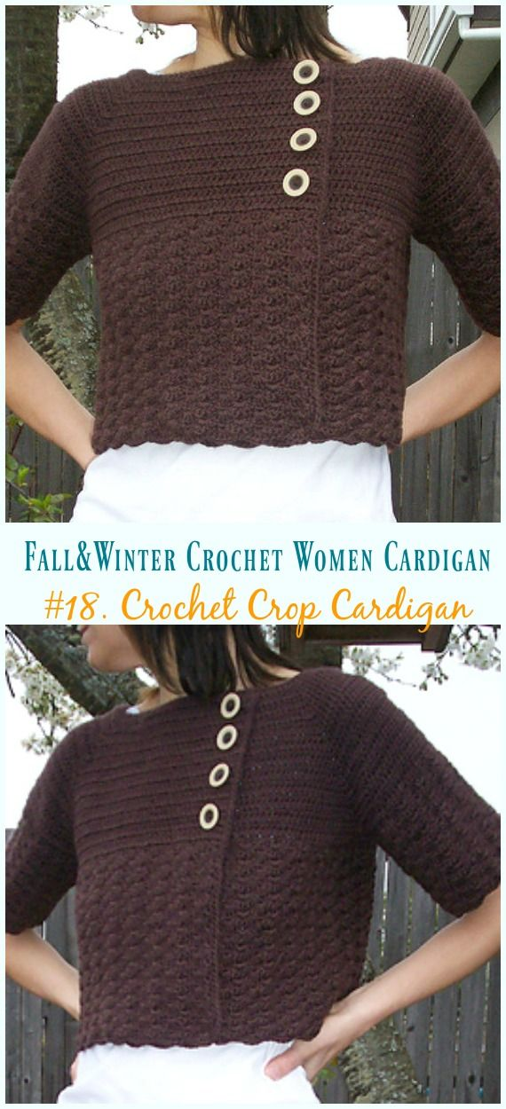 Fall & Winter Women Cardigan Free Crochet Patterns | Häkeln/Stricken ...