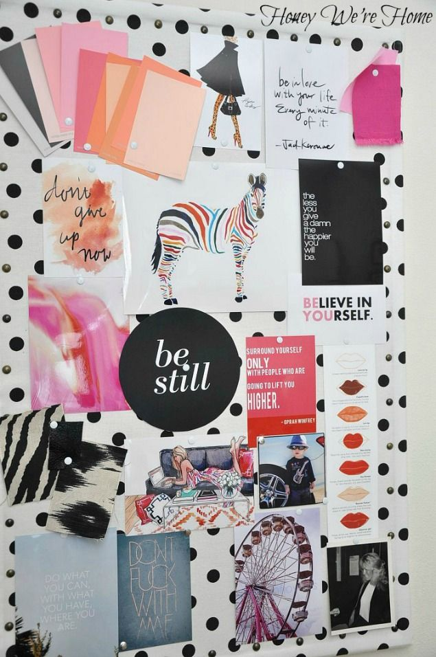 Office Updates // Inspiration Board and Rattan Chair
