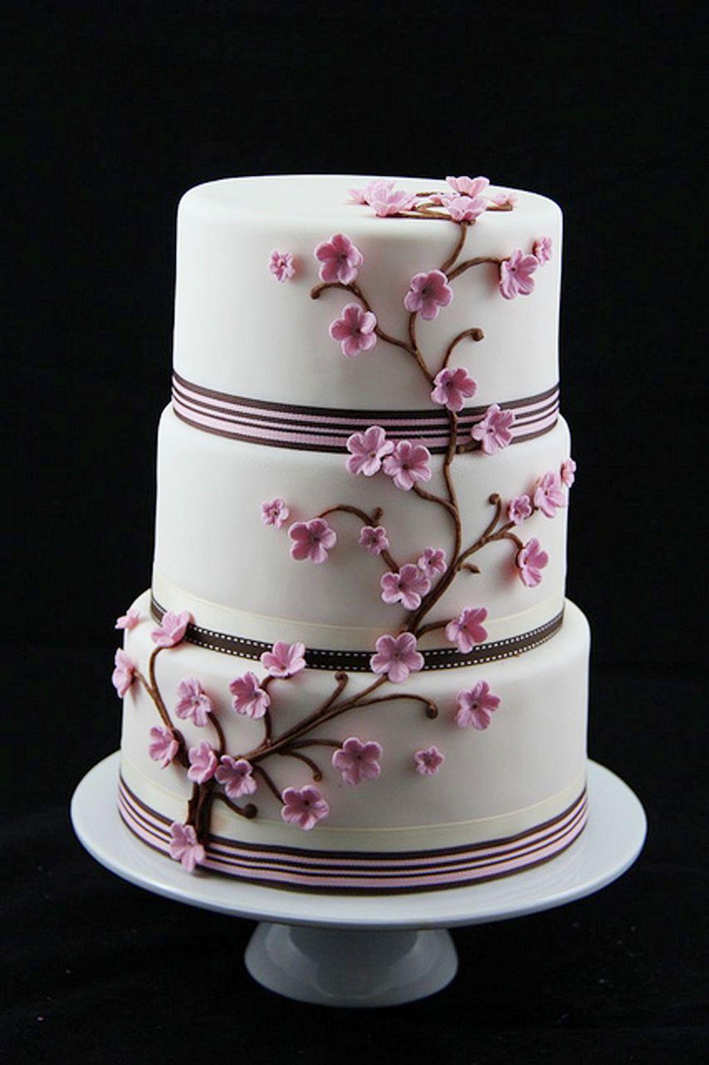 Cherry Blossom Wedding Cakes Theme Torty Pinterest Cherries