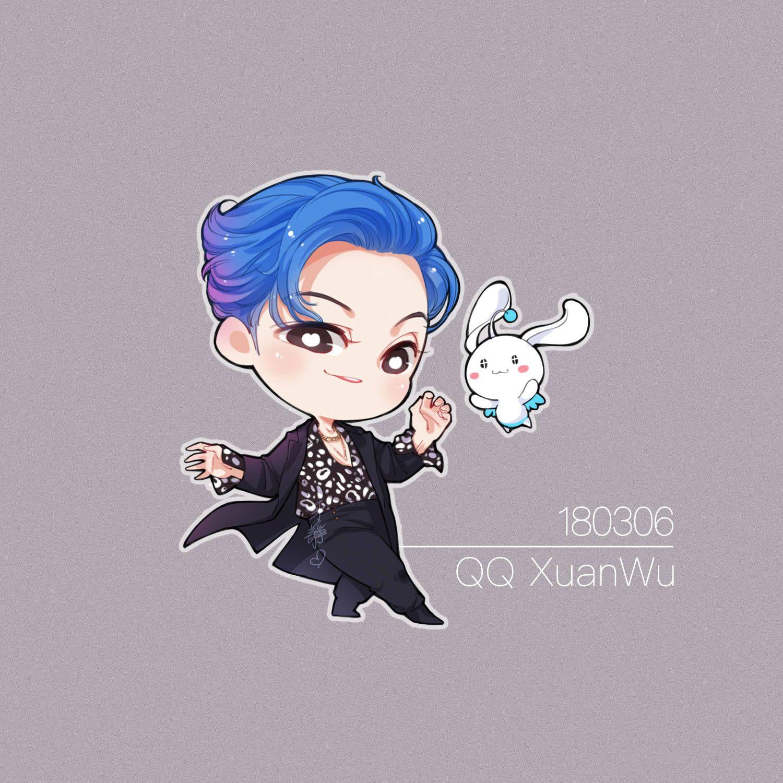 William Chan Q Version Fan Art Tencent QQ Dance Mobile