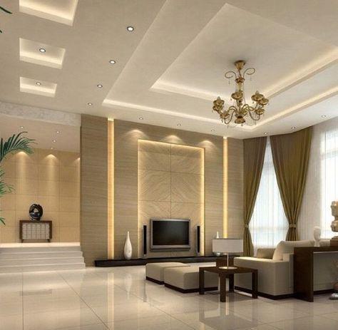 False ceiling modern decorating ideas bedroom bedsrcular interior design living room   also beds rh pinterest