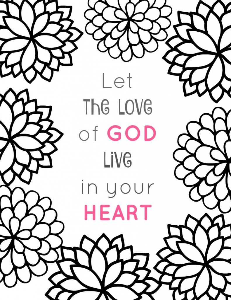Free Printable Christian Coloring Pages   Free printable, Adult ...