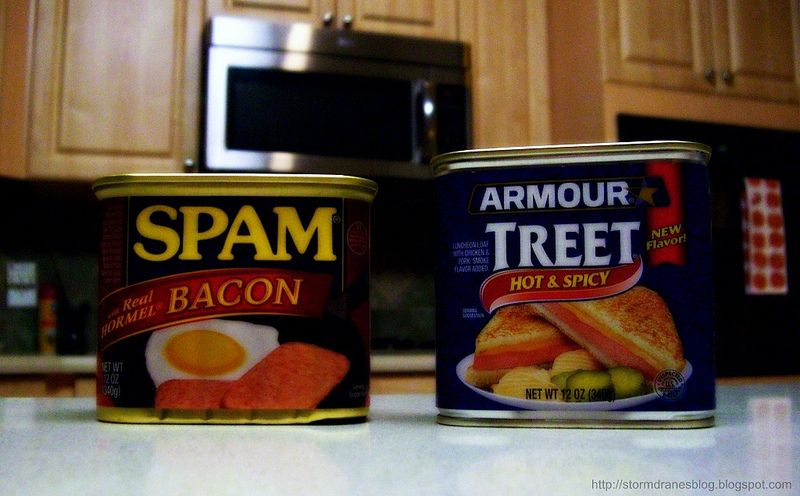 Canned meat...