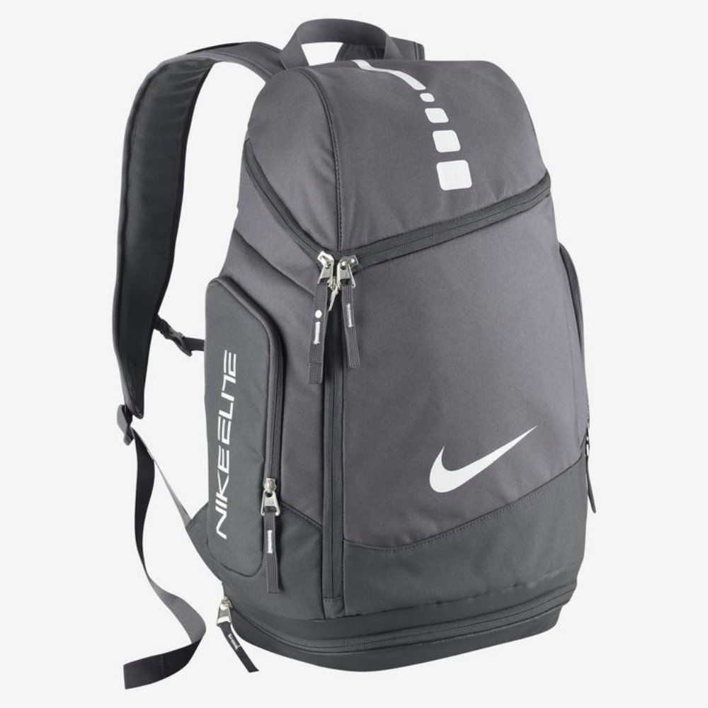 Nike Hoops Elite Max Air Team Backpack (Charcoal/Dark Grey/White) >> Startling review available here  : Backpacking backpack