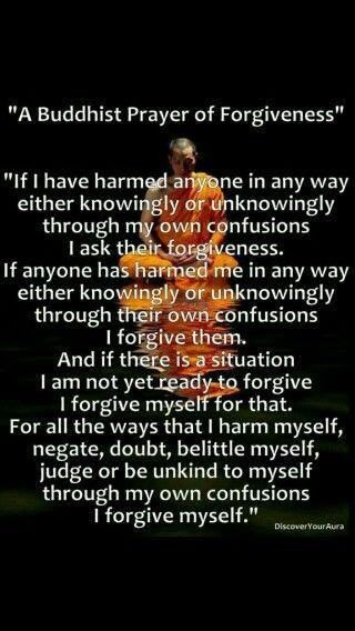 A Buddhist Prayer Of For Forgiveness
