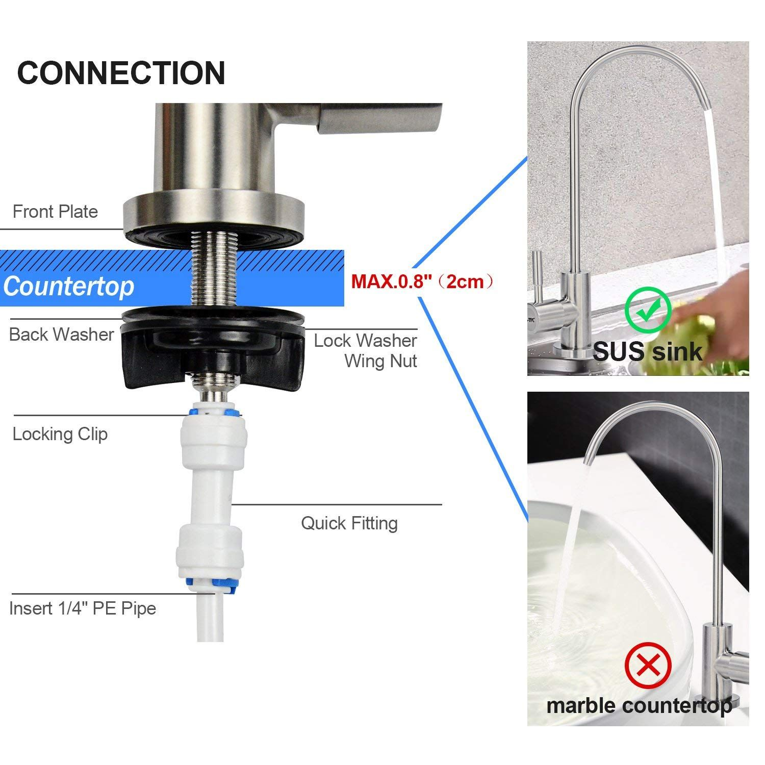 FSTFC Reverse Osmosis Faucet For Drinking Water System