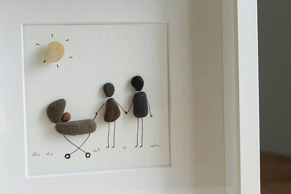Neues Baby geboren Pebble Art neue Ankunft Baby-Geschenke