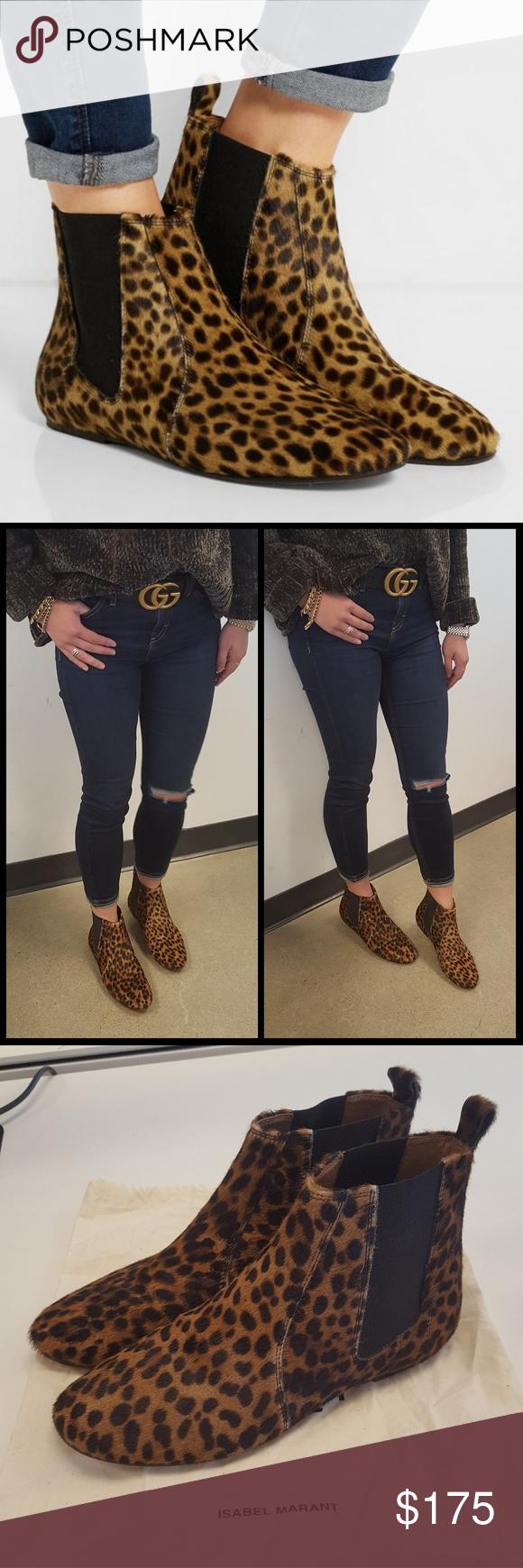 ba7585b4651 Isabel Marant Ankle Boots Authentic and super cute Isabel Marant Etoile Dewar  Leopard-print calf