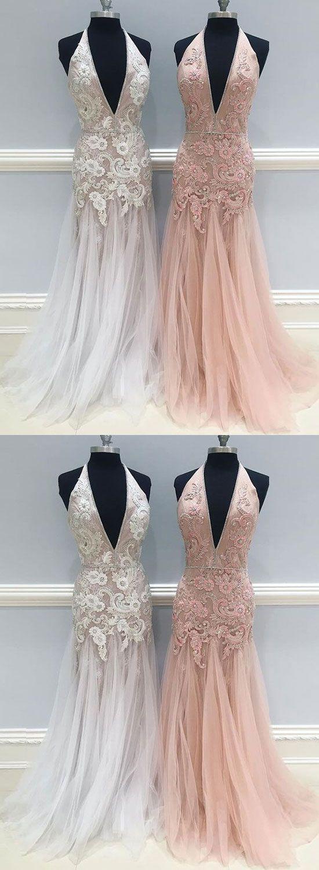 Mermaid lace long prom dress lace evening dress stunning fashion