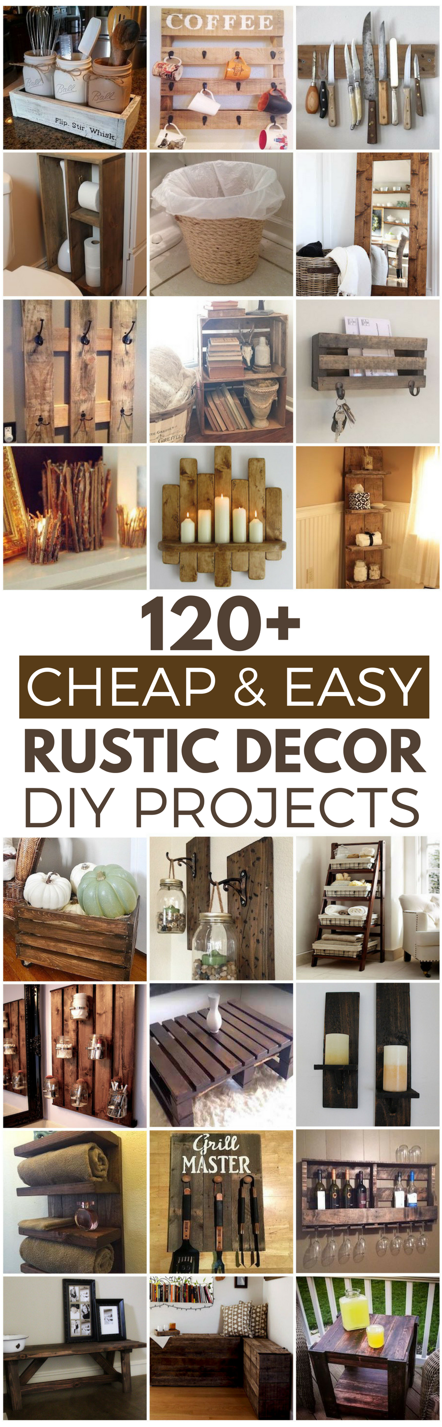 120 Cheap and Easy DIY Rustic Home Decor Ideas | Easy, House and Craft