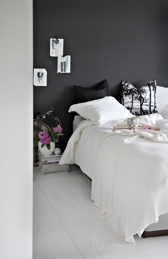 Bedroom - with black walls
