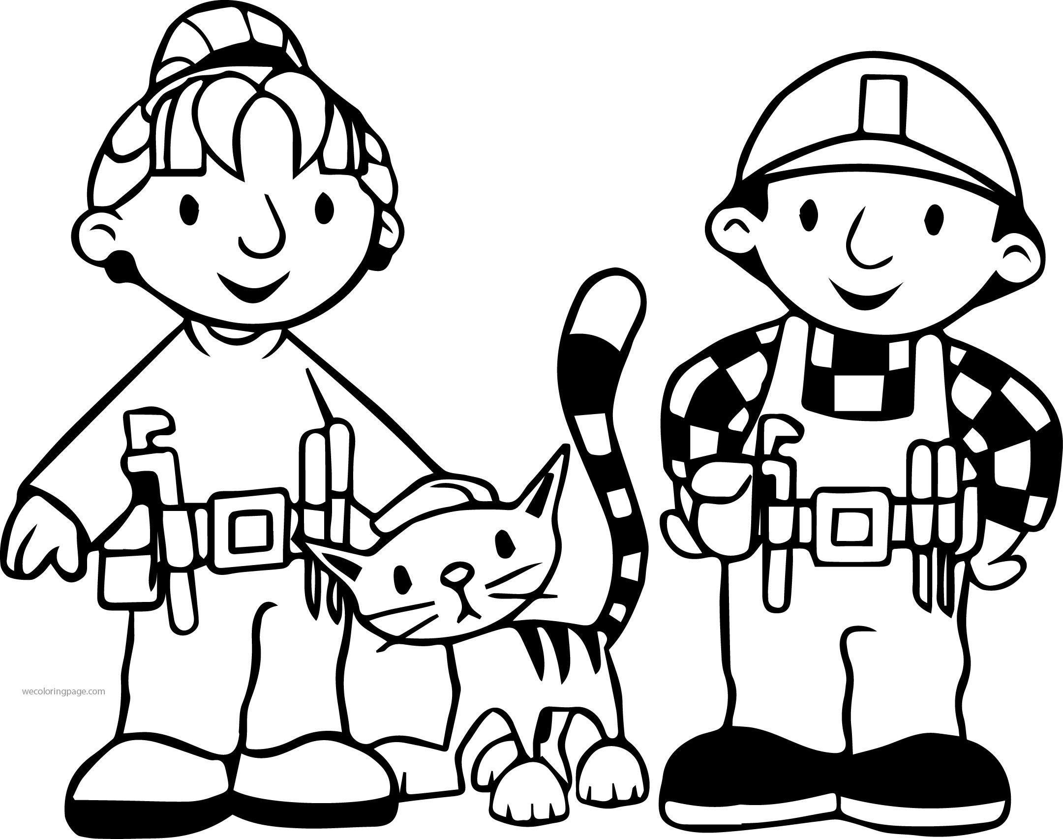 Nice Bob The Builder Wendy Cat And Bob Coloring Page Kids Printable Coloring Pages Coloring Pages Bob The Builder