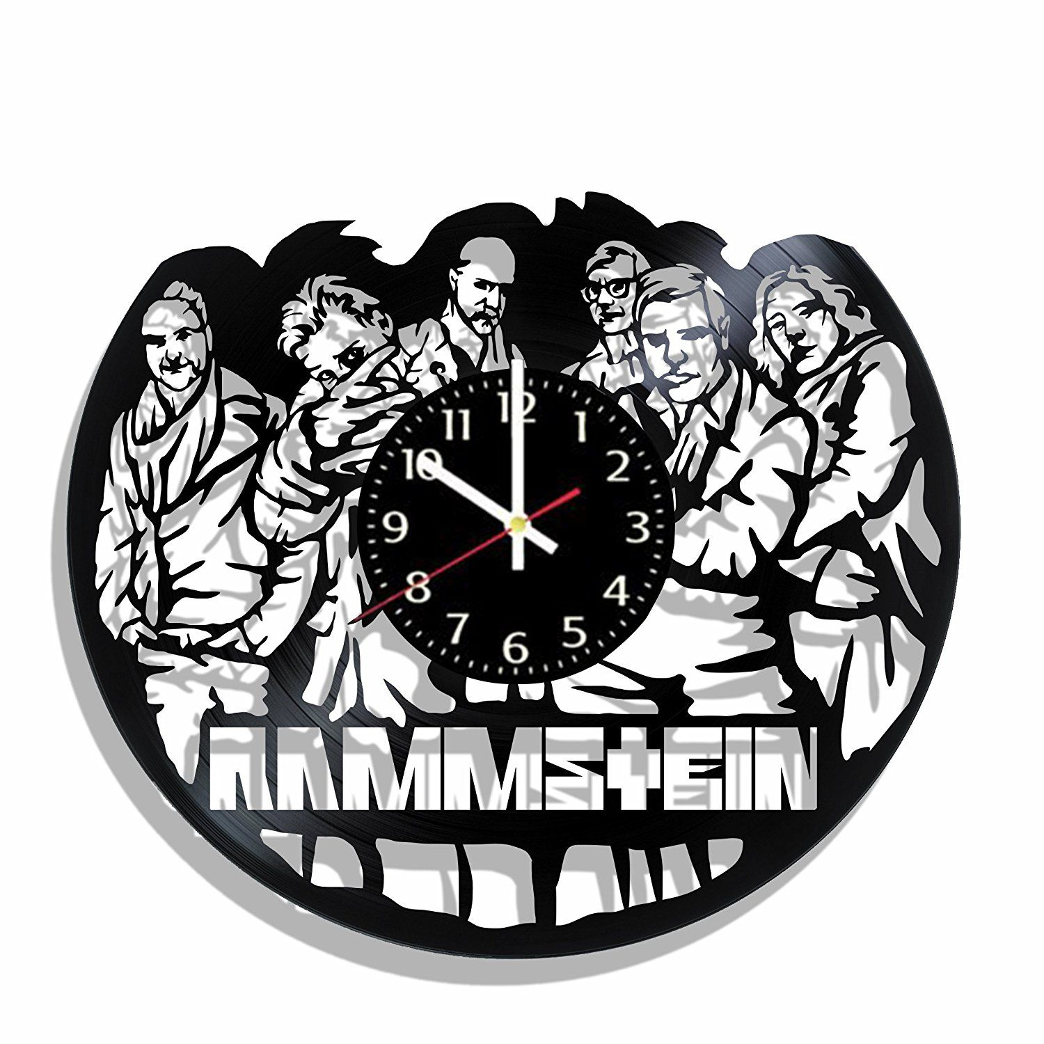 Wall Clock Rammstein Made From Real Vinyl Record Rammstein Decal Rammstein Wall Poster You Can Find More Details By Visiti Clock Wall Clock Vinyl Records