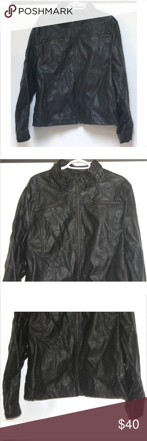 2d9c91b573f01 Lane Bryant Vegan Faux Leather Jacket Sz 22 24 Lane Bryant Black Faux  Leather Jacket