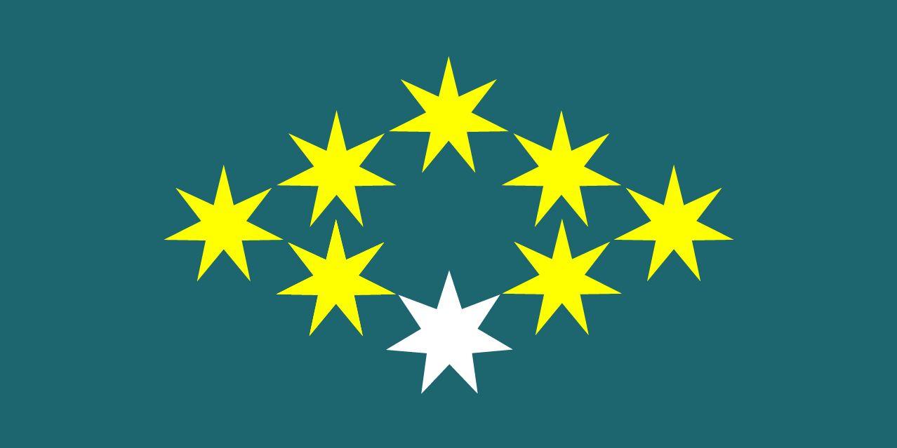 New Australian Flag Design UluruSky 18-GoldenDiamond8-Myrtle ...