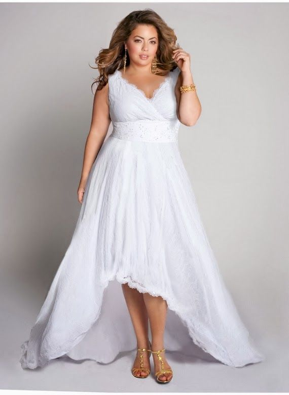 Informal plus size wedding dresses cheap