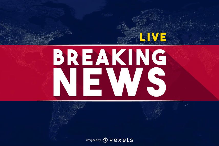 Design For A Breaking News Post Or Publication It Says Breaking News Live Over A World Map The Text Is World Breaking News Graphic Design Logo Breaking News