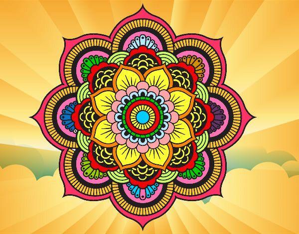 Mandala Flor Oriental Pintado E Colorido Por Gleicymaia O Dia 07