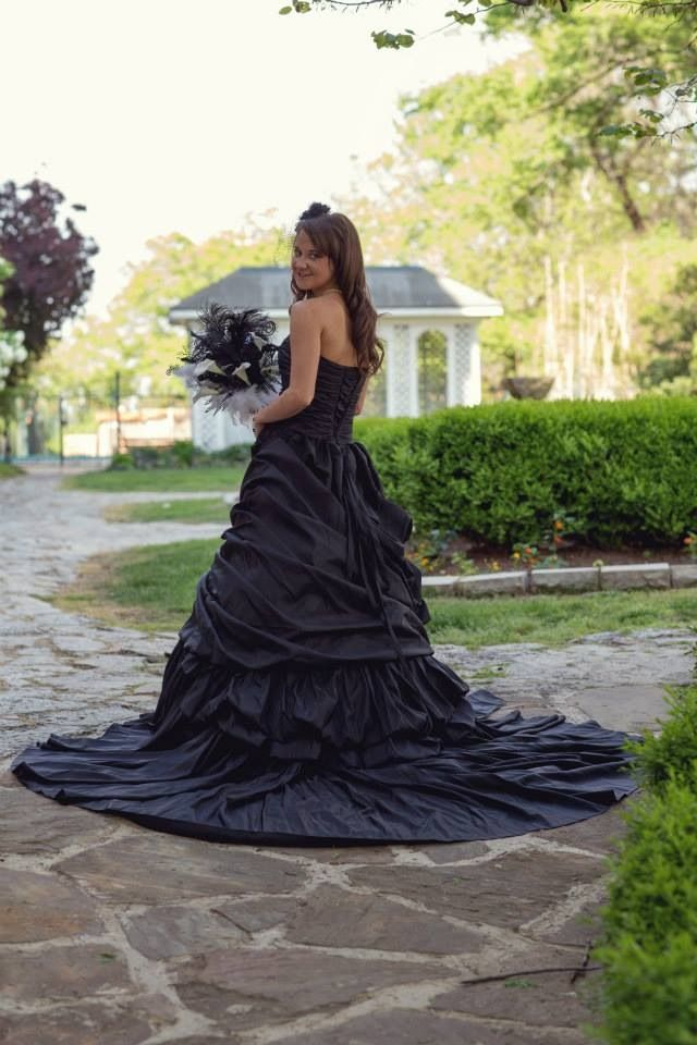 My Black Wedding Dress At Our Nightmare Before Christmas Wedding