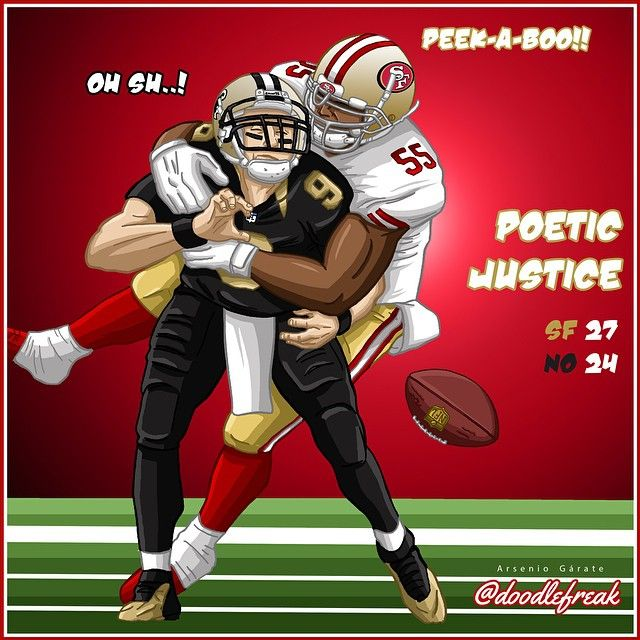 #49ers beat the #Saints #doodlefreak #NFL