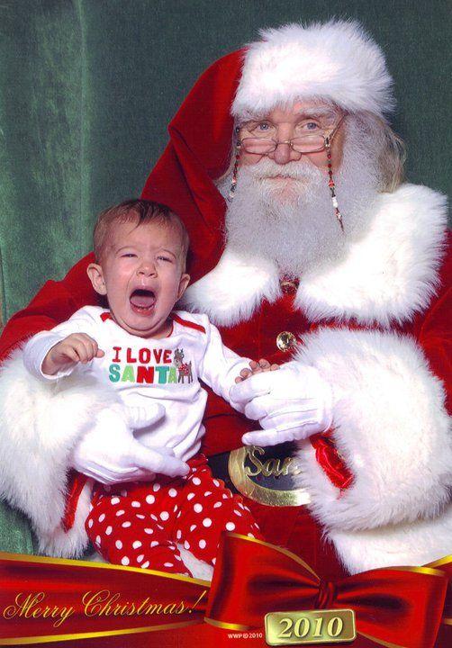 kids crying on santas lap - Santa And Kids