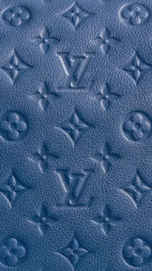 Blue Monogram Apple watch wallpaper, Louis vuitton