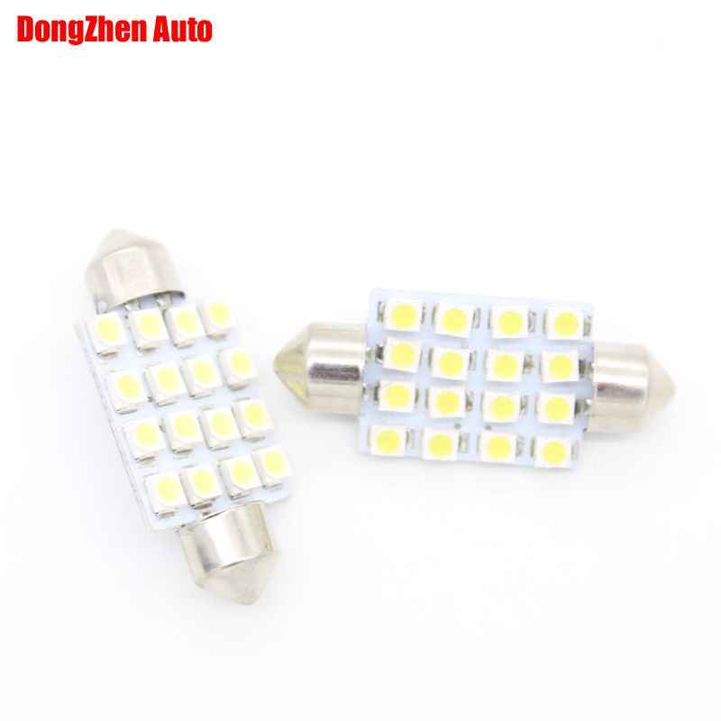 1 12 Buy Here Http Appdeal Ru 717s 1x 24v 16 3528 41mm Car Led Interior Dome Festoon Light Reading Lamp Auto C5w C Car Led Festoon Lighting Reading Lamp