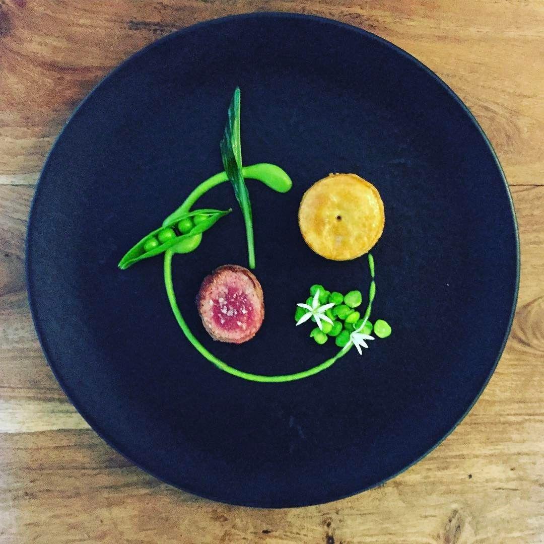 "244 Likes, 3 Comments - Station Road (@stationroadlochness) on Instagram: ""Venison, Pea, Wild Garlic - photo taken by our chef @glholloway1981 #chefsplateform #chefs_eye…"""