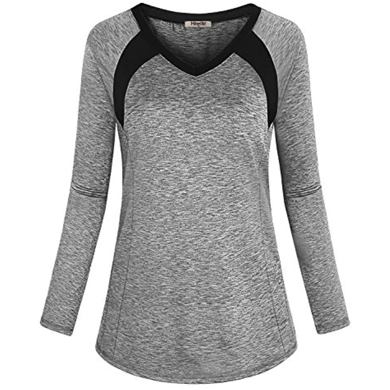 62d391bcaec48 Hibelle Women's Long Sleeve Activewear Yoga Running Workout T-Shirt ...