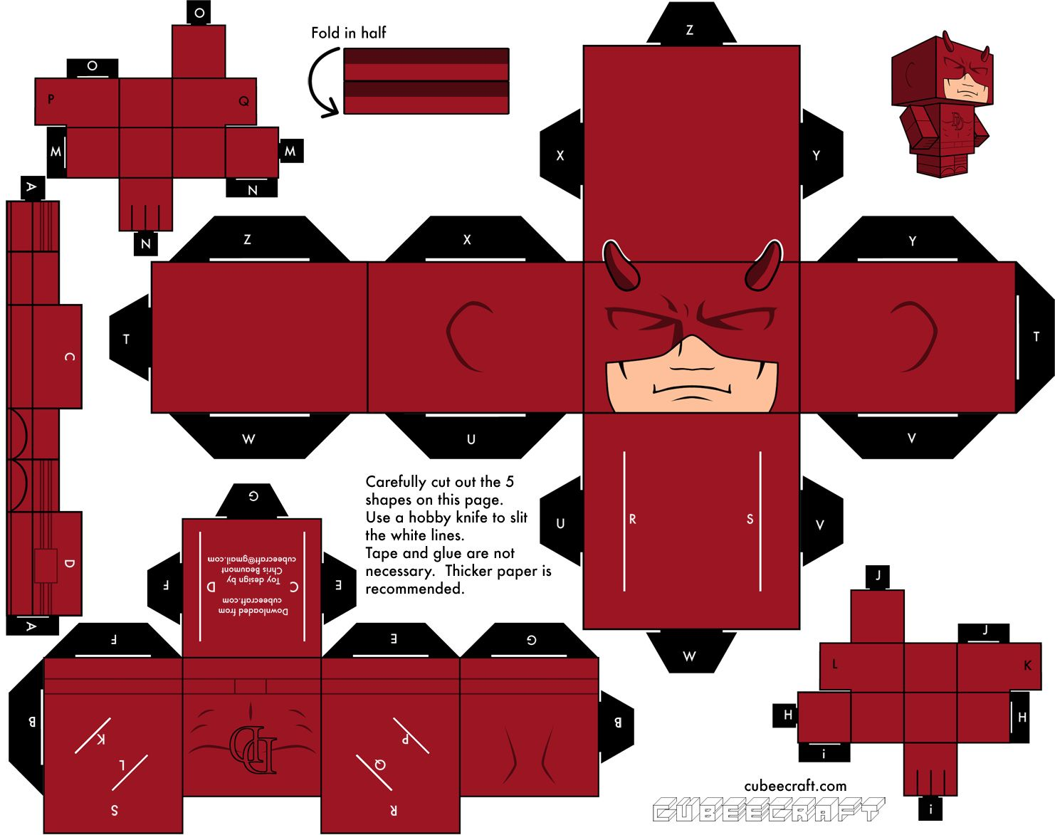 Cubeecraft In 2020 Paper Toys Paper Toy Printable Origami Paper Art